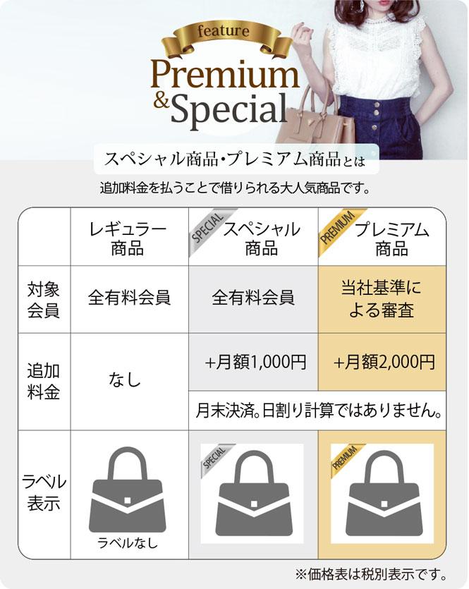 プレミアム商品・スペシャル商品について