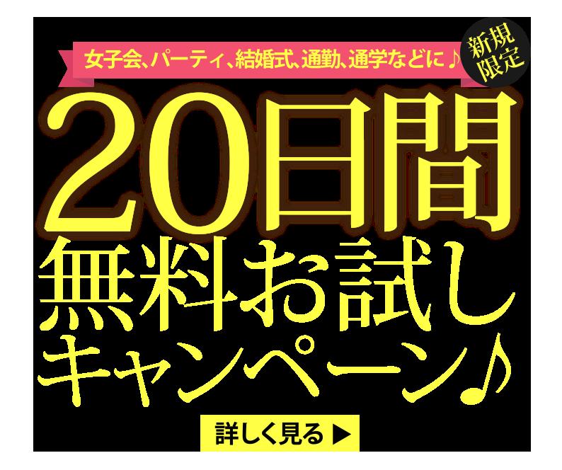 新規限定20日間無料お試しキャンペーン実施中!