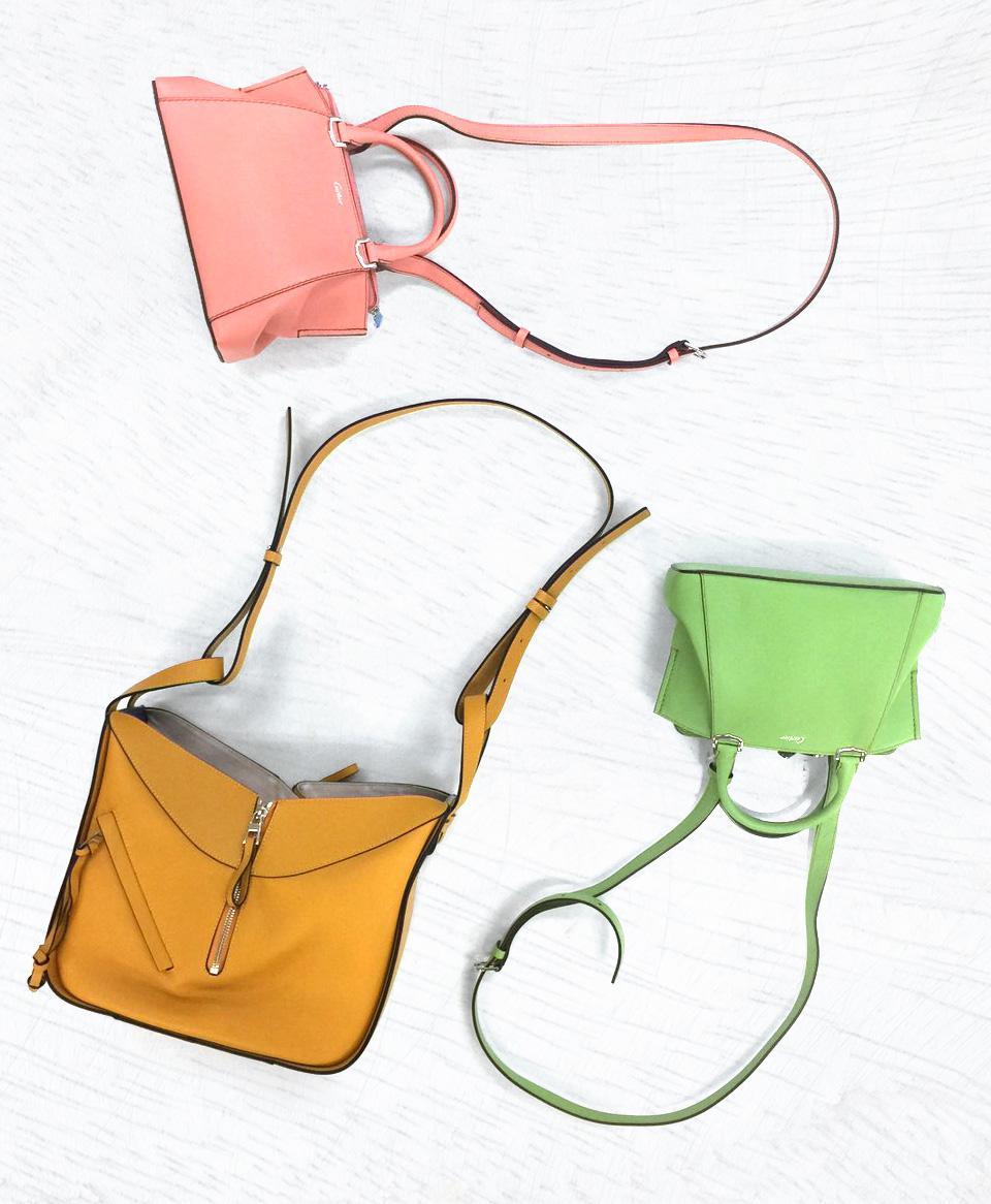 春カラーのバッグ